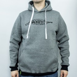 SMOKERS WEAR LOGO HOODIE GRAY